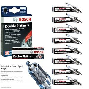 8 Double Platinum Spark Plugs For 2009-2010 HUMMER H3T V8-5.3L