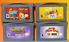 Nintendo Game Boy Advance GBA Lot Disney Shrek Spongebob M&Ms Blast Tom & Jerry