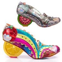 Irregular Choice Sunshine Splash Rainbow Glitter Fruit Heel Heart Unique Shoes