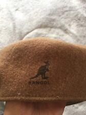 Authentic Classic Kangol Virgin Wool Tan/Brown Cabbie Flat Cap Golf Hat Mens M