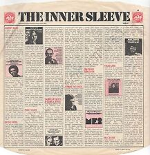 "Vintage INNER SLEEVE or SLEEVES 12"" CBS Advertising 'M' ISSUE I x 1"