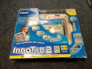 """VTech Innotab Max Kid's Tablet 7"""" Pink with games, boxed E107"""