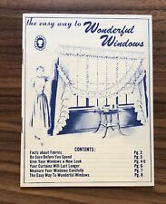 Cameo Shir Back Curtains Vintage Sales Brochure