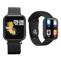 Smartwatch P80 Pulsuhr Magnetverschluss IPS Display IP68 Wasserdicht Fitness Uhr