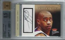 2003-04 #5/15 Vince Carter Fleer Platinum INSCRIBED Autograph Raptors BGS 8.5/8