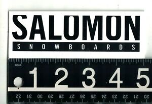 SALOMON SNOWBOARDS STICKER Salomon Snowboards 5 in x 1.75 in Wht/Blk Ski Decal