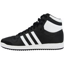 Adidas top ten Hi zapatos Men calcetines de tiempo libre High Top cortos Black White b34429