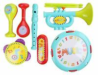 9 Piece Colourful Kids Musical Instrument Set Toys Children Toddlers Percussion