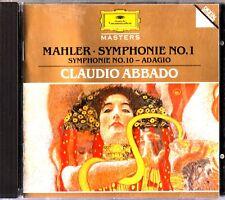 Mahler - Symphonies No.1-10 Adagio CD Abbado/CSO/Philharmoniker 1988 LIVE