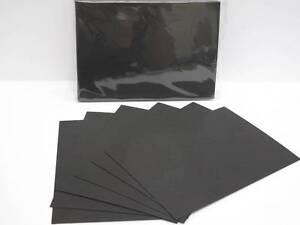 40 x A6 148 x 105mm Black Matt Smooth Card 300gsm Cardmaking & Scrapbooking AM66