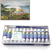 12 Color Gouache Paint Set 5 ml Tubes Artist Draw Painting Pigment Painting GA