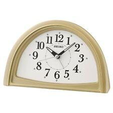SEIKO ANALOGUE BEEP ALARM CLOCK GOLD (MODEL NO. QHE166G)