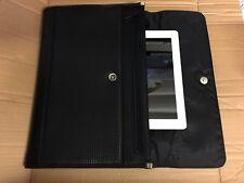 New A4 Conference Folder Business Faux Leather Document ipad Case Portfolio File