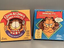 Vintage Garfield Quips & Quotes Working 9-5 Rubber Stamp Kits Rubber Stampede