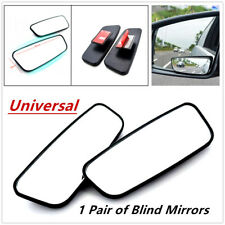 2PC Side Auxiliary Blind Spot Wide View Small Rearview Car Rv Truck Mirror Glass