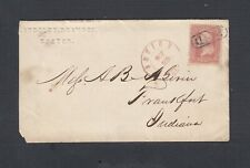 USA 1862 3C WASH COVER BOSTON MASSACHUSETTS TO INDIANA W/ SHOE COMPANY CONTENTS