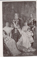 Vintage Postcard King Edward VII & Queen Alexandra of England & Family