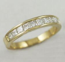 14k Yellow Gold 10 Stone Diamond Anniversary Band,0.50ct.TDW (New Ring Princess)