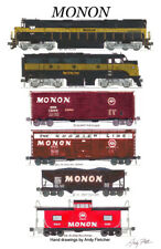 "Monon Freight Train 11""x17"" Poster Andy Fletcher signed"