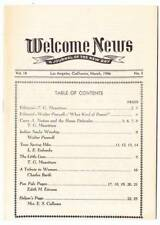 WELCOME NEWS A JOURNAL OF THE NEW DAY - 1946 - political articles, Klu Klux Klan