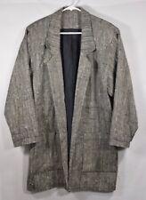 DONCASTER 100% Silk Open Tweed Coat Sz L Black White Lined Boucle EUC Womens