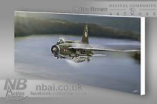 F.2A Lightning 92 Squadron Flagship CANVAS PRINT, Digital Artwork.