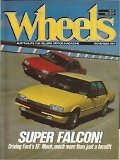 WHEELS Nov 84 Falcon XF W123 300TD Turbo Audi Quattro