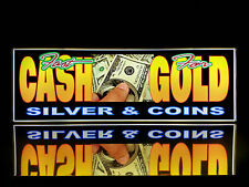 Business LED Lighted Box Sign: Fast Cash For Gold Silver & Coins