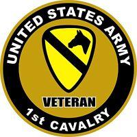 UNITED STATES Army Veteran 1st Cavalry Decal Window Bumper Sticker