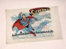 Vintage 1978 DC Comics Superman Pillowcase Standard White Flying Over City