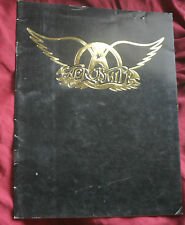 Original 1977 Aerosmith Concert Program Draw The Line Tour Book Walk This Way