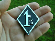 ~ 1%er EMBLEM Chrome Metal Emblem HIGH QUALITY Bike Badge fit HARLEY-DAVIDSON  B