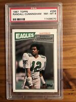 1987 Topps Randall Cunningham Psa 8 #296 (RC) Eagles
