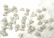 Silver butterfly beads for jewellery making 25g silver butterfly beads New