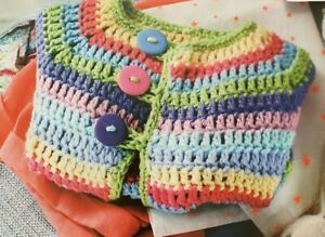 Crochet Pattern for a Rainbow Cardie 3-12 months - CR12