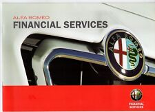Alfa Romeo Financial Services 2010-11 UK Market Brochure