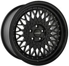 """18"""" Avant Garde M220 Wheels For Audi TT 5X100 Mesh Black Rims Set (4)"""
