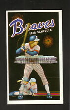 Atlanta Braves--1978 Pocket Schedule--Bonanza