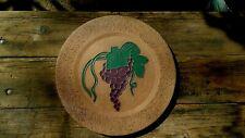 Hans Sumpf, Grapes, 12''X3/4'& #039; Clay Pottery Paver