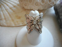 Sterling Silver Mother of Pearl Inlay Butterfly Ring   291026