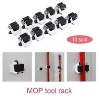 10PCS Wall Mounted Mop Brush Broom Holder Hanger Organizer Storage Kitchen Tool