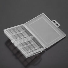 Useful 1x Hard Plastic Battery Case Box Holder Storage for 10 AA/AAA Batteries #