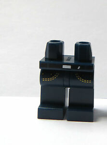 Lego 1 x Legs Leg For Minifigure Figure Dark Earth Blue Pocket Belt Jeans