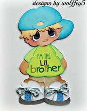 ELITE4U BROTHER premade paper piecing scrapbook diecut piece album page WOLFFEY5