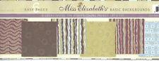 Miss Elizabeth's 12 x 12 Scrapbooking 6 Page Paper Set - BASIC BACKGROUNDS