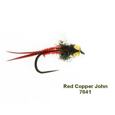 RED COPPER JOHN BARBLESS NYMPH GRAYLING & TROUT - size 14