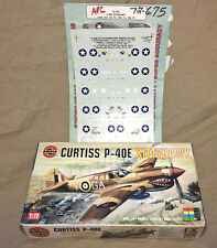 1/72 AIRFIX Curtiss P40E Kittyhawk with SuperScale Decals