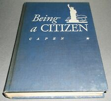 Vtg Being A Citizen By Louise Capen Social Science American Book Co 1947 HC Rare