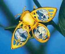 "SWAROVSKI CRYSTAL ELEMENTS ""Bumble Bee"" - MAGNET SUNCATCHER 24K GOLD PLATED"