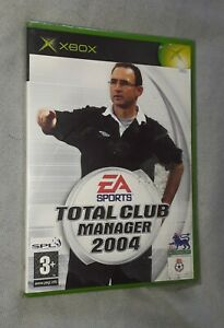 Total Club Manager 2004 BRAND NEW & SEALED Original Microsoft XBOX Game